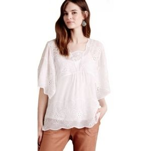Anthro Meadow Rue Carwen Embroidered top size S